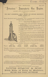 Advert For Gilles and Humboldt's Noiseless Atmospheric Gas Engine